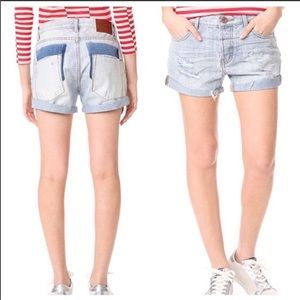 One Teaspoon Chargers distressed denim shorts